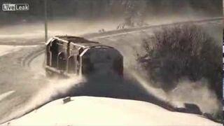 Odśnieżanie pociągiem w Nowej Zelandii