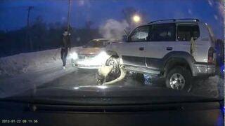 Masywny wypadek na autostradzie