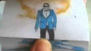 Gangnam style - Narysowany na papierze