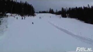 Bolesny skok na nartach