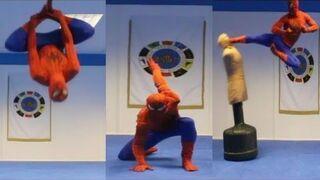 Taekwondo Spiderman - Flips & Kicks