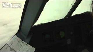 Bird hits the plane cockpit Slow motion.