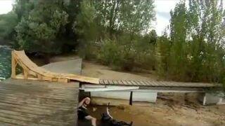 Biker on Dock Fail