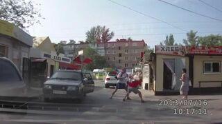 Rosyjska ustawka na drodze