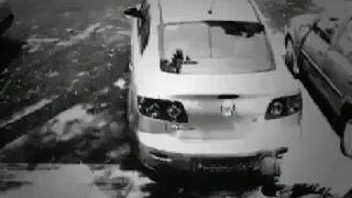 Kradzież samochodu - Trik z puszkami