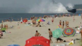 Zwyczajny dzień na plaży w Rosji