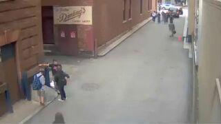 Gówniarz uderzył nauczyciela na ulicy
