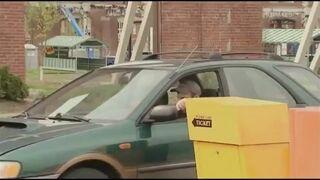 Ukryta kamera chowająca się karta parkingowa