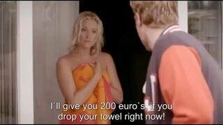 Daje 200 euro jeśli spadnie ręcznik