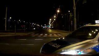 Wpadka policji na skrzyżowaniu