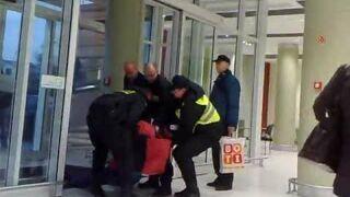 Interwencja Policji i Ochrony.Awantura w Tesco.