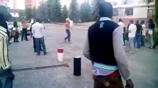 Ukraina Policja brutalizuje Afrykanów