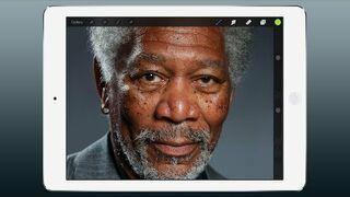 iPad Art - Morgan Freeman Malowanie palcami