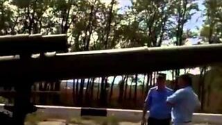 Lufa armaty w autobusie - funny Russia