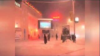 Globalne ocieplenie - Rosja, Syberia, Jakuck, -44 stopnie C.