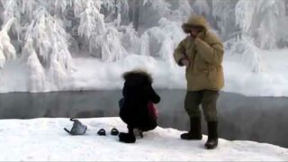 Syberia - kąpiel przy -50 stopniach C