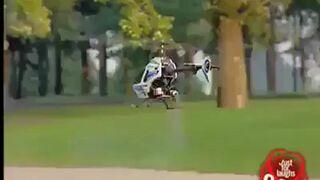 Helikopter w parku