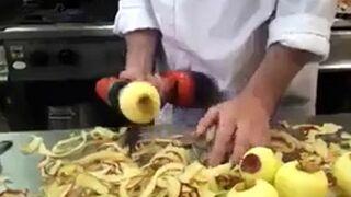 Obieranie jabłek wiertarką!