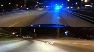 Mercedes C63 vs Policja