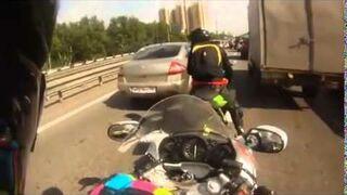 Nagroda od motocyklisty za blokowanie