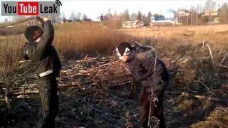 Rosja: Łamanie kija na głowie