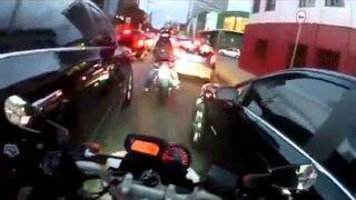 Szalona jazda na motorze w Brazylii