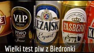 Wielki test piw z Biedronki