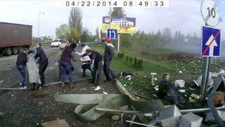 Wybuch na stacji benzynowej w Kijowie