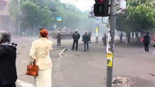 Barykada vs Ukraińskie czołgi BWP