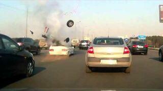 Wybuch LPG w bagażniku na autostradzie
