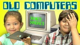 Zobacz reakcje dzieciaków na stary komputer