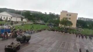 Podczas parady w Rosji rozjechano żołnierza