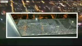 Pękła szklana podłoga we wieży widokowej!