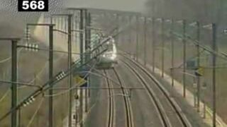 Jazda pociągiem 574 km/h