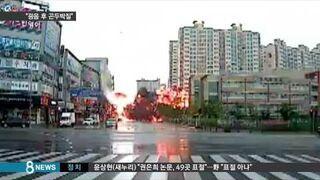 Helikoptera spadł w środku miasta