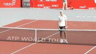 Na zakończenie meczu w tenisa...