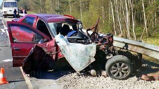A selection of terrible road accidents