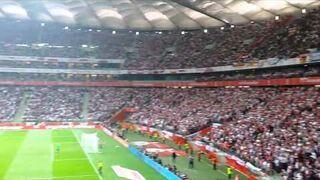 Reakcja stadionu na gola Sebastian Mila - Polska Niemcy 2:0