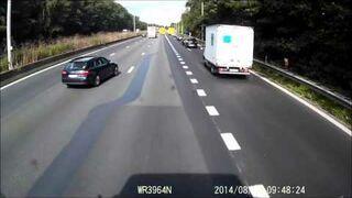 Jak nie jeździć po autostradzie. Belgia