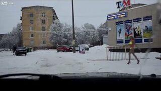 Jedziesz spokojnie zaśnieżonymi ulicami, a tu nagle...