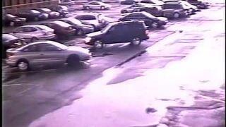 Narodziny tornada na parkingu