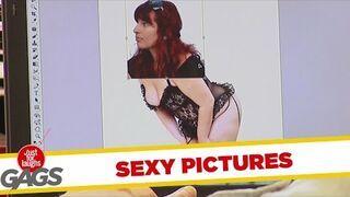 Dowcip z erotycznymi zdjęciami w galerii