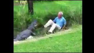 Starszy dziadek pogromca aligatorów!