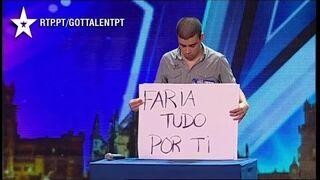 Wiadomość dla byłej dziewczyny w  Mam Talent (Portugalia)