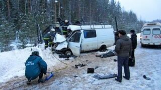 Winter accidents on the roads