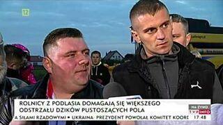Rolnik po chłopsku do polityków - Dziki na Podlasiu