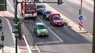Zielony kierowca vs Straż pożarna...