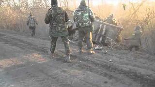 Nieudany drif wozem bojowym. Ukraina