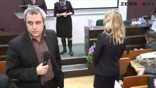 Prezent dla Anny Grodzkiej na wykładzie