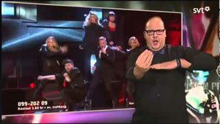 Tłumacz języka migowego kradnie show na Eurowizji!